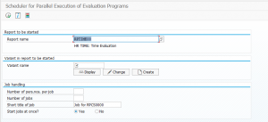 Run SAP Time Evaluation in Parallel