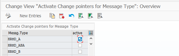 Activate Change Pointers for HRMD_A IDOC