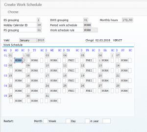 PT01 - Create work schedule