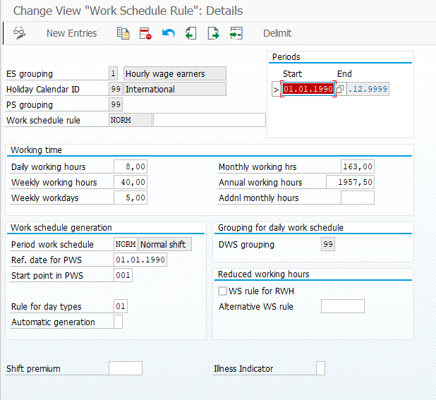 Work Schedule Rule